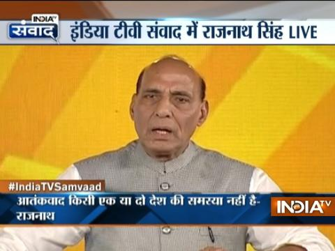 Followers of Islam are also helping us in Kashmir, says Rajnath Singh in IndiaTv Samvaad