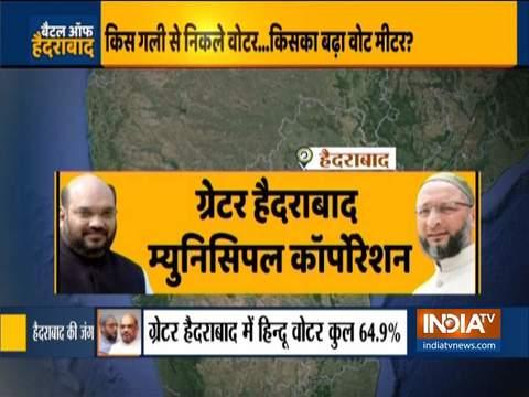 हैदराबाद चुनाव में बहुत धीमी गति से मतदान, दोपहर 1 बजे तक सिर्फ 18% मतदान