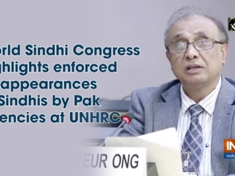 World Sindhi Congress highlights enforced disappearances of Sindhis by Pak agencies at UNHRC