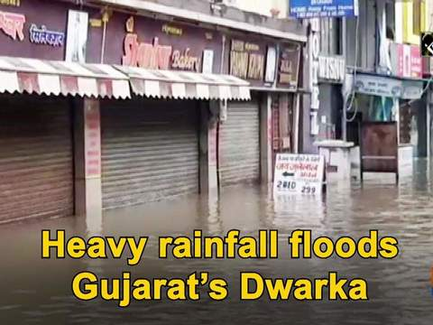 Heavy rainfall floods Gujarat's Dwarka