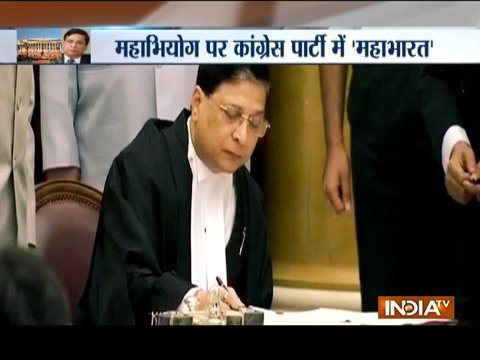 Divide in Congress over impeachment motion against CJI Dipak Misra?