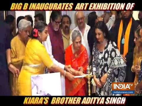 Amitabh Bachchan inaugurates art exhibition of Aditiya Singh
