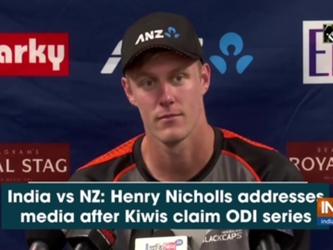 India vs NZ: Henry Nicholls addresses media after Kiwis claim ODI series