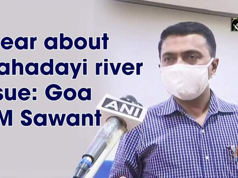 Clear about Mahadayi river issue: Goa CM Sawant