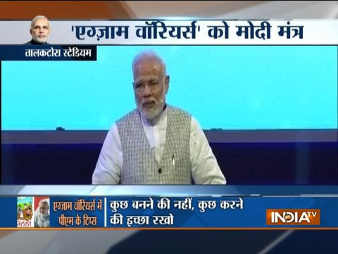PM Modi holds Pariksha Pe Charcha with young students appearing for Board Exams