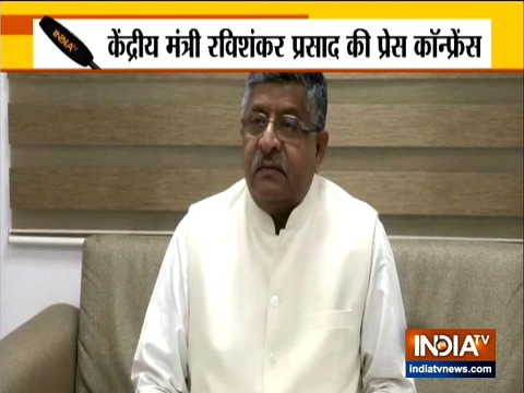 Congress playing politics over coronavirus: Union Minister Ravi Shankar Prasad
