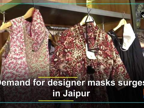 Demand for designer masks surges in Jaipur