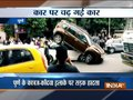 Three cars pile-up after colliding with each other in Pune (watch video)
