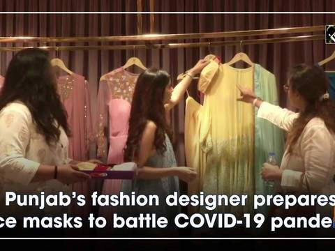 Punjab's fashion designer prepares face masks to battle COVID-19 pandemic