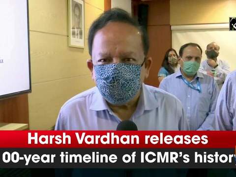Harsh Vardhan releases 100-year timeline of ICMR's history