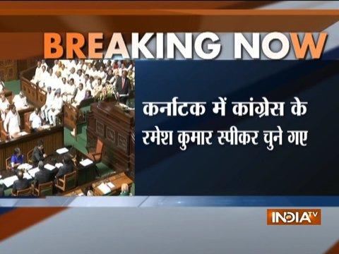 कांग्रेस के रमेश कुमार को कर्नाटक विधानसभा का अध्ध्यक्ष चुना गया