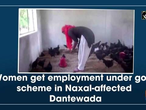 Women get employment under govt scheme in Naxal-affected Dantewada