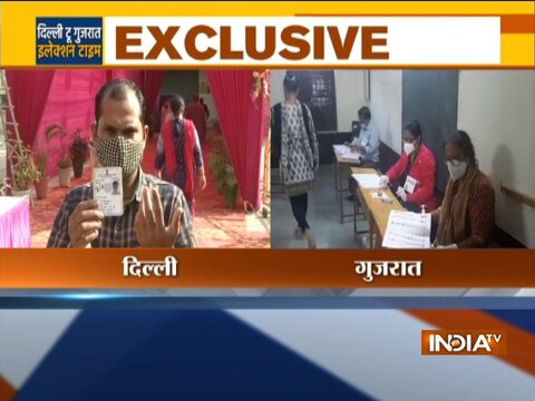 Voting for Delhi  bypolls, Gujarat for civic polls underway
