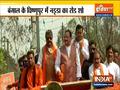 Bengal Polls 2021: BJP president JP Nadda holds a roadshow in Vishnupur