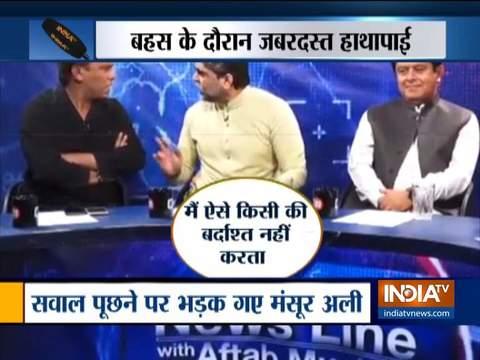 वीडियो: न्यूज चैनल की डिबेट के दौरान पाकिस्तानी नेताओ में हुई हाथापाई