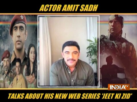 Actor Amit Sadh talks about his upcoming web series 'Jeet Ki Zid'