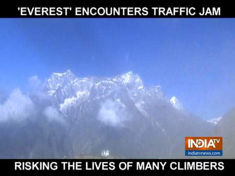 Traffic jam at Mount Everest creates lethal conditions for climbers