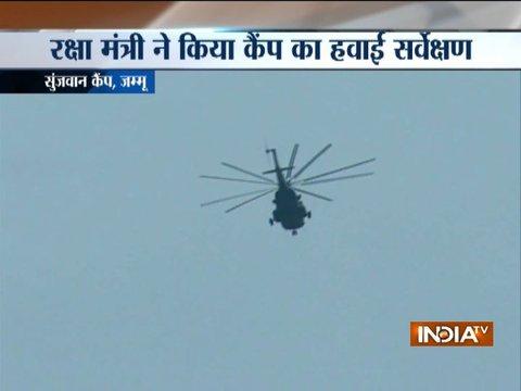 Defence Minister Nirmala Sitharaman conducts aerial survey of Sunjawan army camp