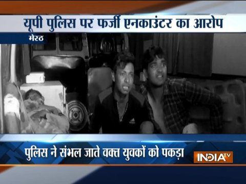 Injured youths accuse UP police of fake encounter