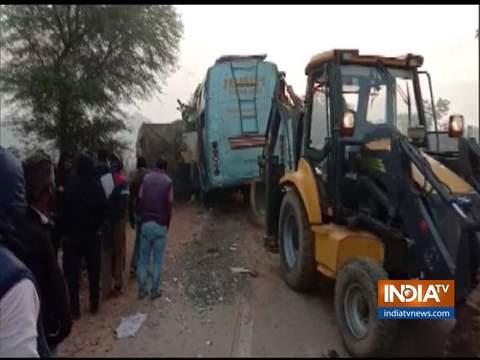 मध्य प्रदेश के रीवा में दर्दनाक हादसा, ट्रक-बस की टक्कर में 9 यात्रियों की मौत