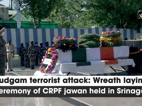 Budgam terrorist attack: Wreath laying ceremony of CRPF jawan held in Srinagar