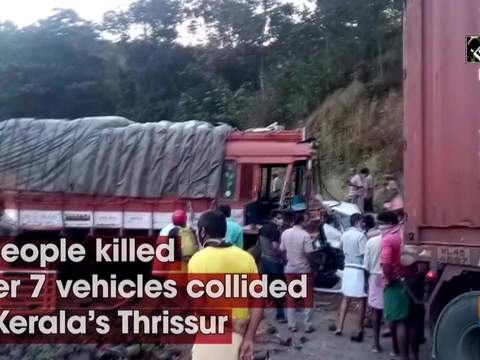 3 people killed after 7 vehicles collided in Kerala's Thrissur