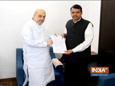 Maharashtra CM Devendra Fadnavis meets Union Home Minister Amit Shah