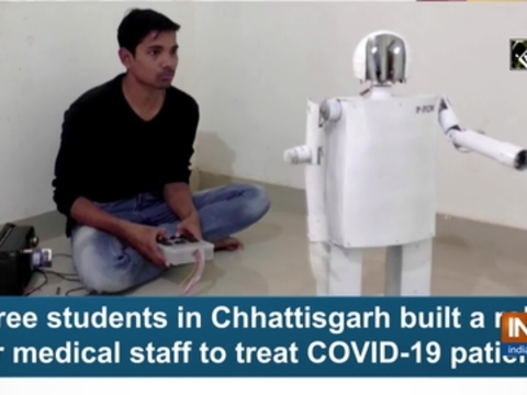 Three students in Chhattisgarh built a robot for medical staff to treat COVID-19 patients