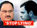 JP Nadda attacks Rahul Gandhi, asks 10 big questions on Congress-China links