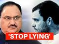 JP Nadda attacks Rahul Gandhi, asks 10 big questions on Congress-China links
