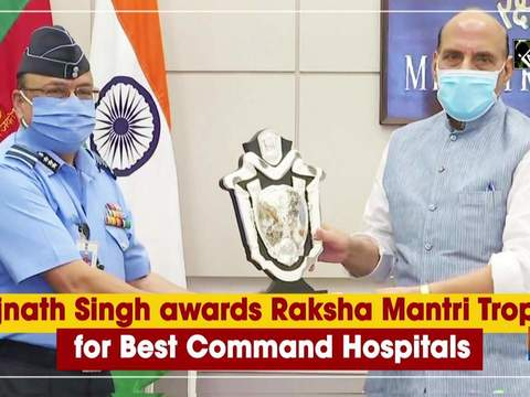 Rajnath Singh awards Raksha Mantri Trophy for Best Command Hospitals
