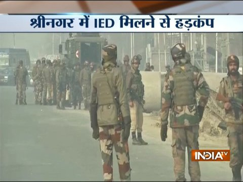 J-K: IED detected near Srinagar's HMT Road, bomb disposal squad present on the spot