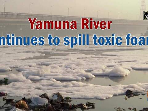 Yamuna River continues to spill toxic foam
