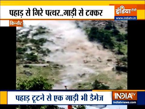 Watch scary visuals of landslide in Himachal's Kinnaur