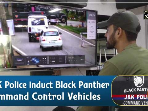 J&K Police induct Black Panther Command Control Vehicles