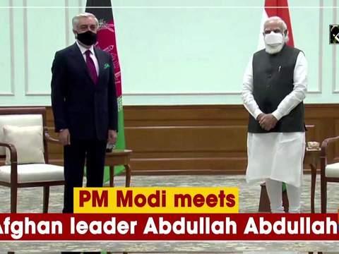 PM Modi meets Afghan leader Abdullah Abdullah