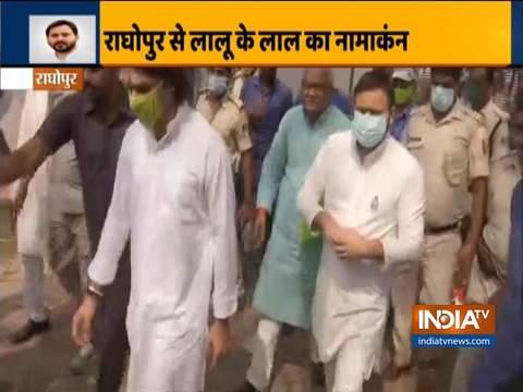 Lalu Prasad's son Tejaswi Yadav files nomination for Bihar Elections