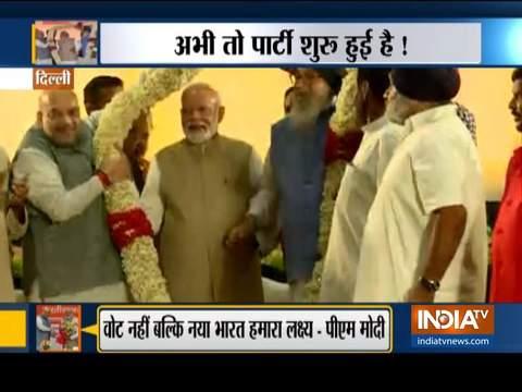 चुनाव परिणाम से पहले डिनर पार्टी में प्रधानमंत्री नरेंद्र मोदी सहित शामिल हुए NDA के शीर्ष नेता