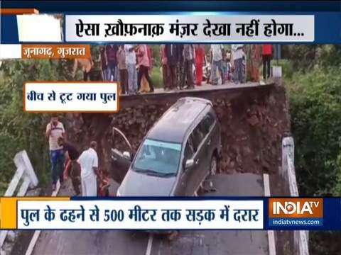 Bridge collapses in Junagadh, several injured