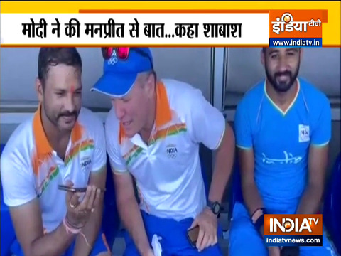 पीएम मोदी ने की भारतीय पुरुष हॉकी टीम के कप्तान मनप्रीत सिंह से बात