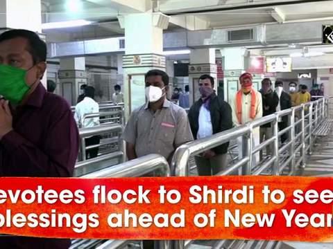 Devotees flock to Shirdi to seek blessings ahead of New Year