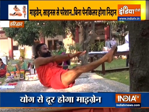 Yogasanas, including sheershasana will eliminate migraine from the root, know how to do with Swami Ramdev