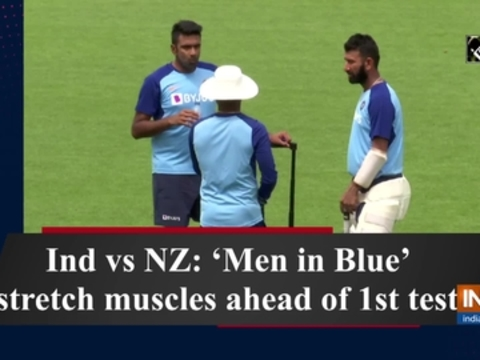 Ind vs NZ: 'Men in Blue' stretch muscles ahead of 1st test