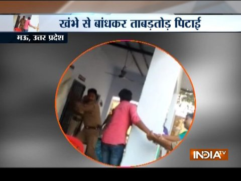 Caught on Camera: Man beaten up by cop in UP's Mau