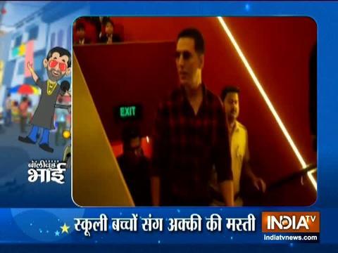 Mission Mangal: स्कूली बच्चों के साथ अक्षय कुमार ने की ग्रैंड मस्ती