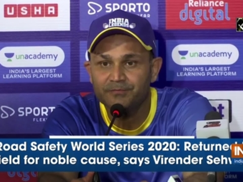 Road Safety World Series 2020: Returned to field for noble cause, says Virender Sehwag