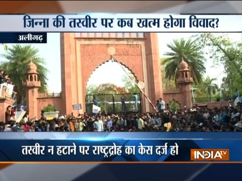 Jinnah row: AMU students protest against campus attack, say it is 'threat to democracy'