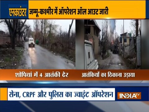 Four terrorists eliminated in encounter in Jammu and Kashmir's Shopian