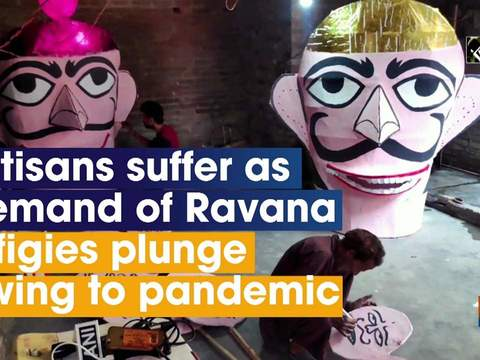 Artisans suffer as demand of Ravana effigies plunge owing to pandemic