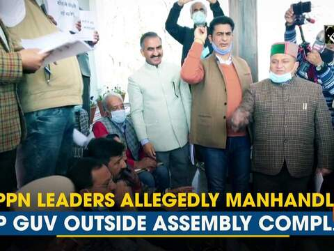 Oppn leaders allegedly manhandled HP Guv outside Assembly complex